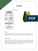 Avocado Proximate analysis