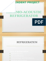 Thermo Acoustic Refrigiration