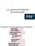 Dynamics of Internal Environment in Strategic Management