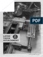 Popular Mechanics-Lathe Taper Attachment