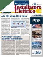 Vetrina Building automation 'Dispositivo wireless' - Il Giornale dell'Installatore Elettrico n. 11 - 10 Settembre 2004 - Anno 26 - www.intellisystem.it