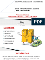hydrogen fuelled ic engine