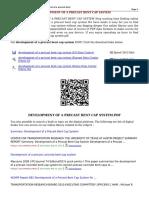 Development of a Precast Bent Cap System