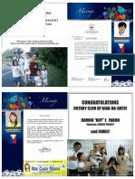 Rotary Club of Biak-Na-Bato Induction Souvenir Program 2013-2014