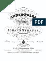 Polka Anna Strauss Piano