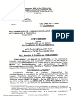Opposition DISBARMENT Cbd Case 11-3166