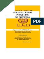 ANTOLOGIA DE FORMULACION DE PROYECTOS DE INVERSION