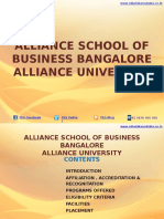 Alliance School of Business Bangalore – Alliance University