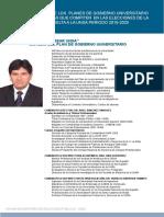 Plan de Gobierno de los candidatos a Rector de la UNSA