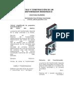 Cálculo y Construcción de transformador
