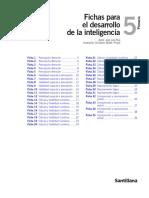 Fichas Santillana - Desarrollo Inteligencia 5 Primaria