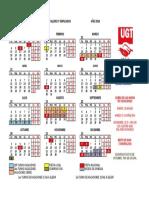 Calendario Taller Fundicion 2016