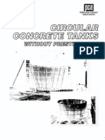 Circular Concrete Tanks Without Pre Stressing