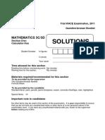 2011PracticeWACEexamSection1CalculatorFreeSolutions