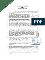 Sheet 11 Problems Sheet on Fluids