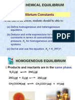 7.2 Equilibrium Constants