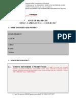 MNAC Apel de Proiecte Formular