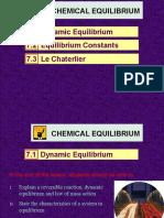 7.1 Dynamic Equilibrium