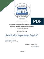 Referat Logica.istoricul Si Importanta Logicii Modi