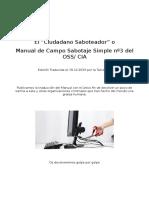 El Ciudadano Saboteador o Manual de Campo de Sabotaje Simple OSSnº3 - 2015 Tctca