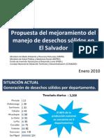Propuesta Del Mejoramiento Del Manejo de Desechos Sólidos en El Salvador