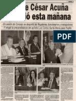 02-04-14 Alcalde César Acuña renuncio esta mañana