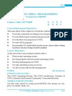 UNIX & SHELL Programming