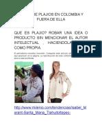 Casos de Plajios en Colombia y Fuera de Ella