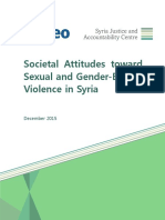 Societal Attitudes Toward Sexual and Gender-based Violence in Syria