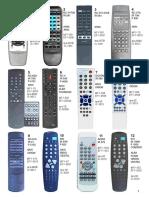 Telecomenzi - Imagini si coduri