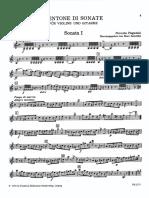 Paganini Nicolo - Centone Di Sonate 4 Sonatas. Janetzsky Violin Part