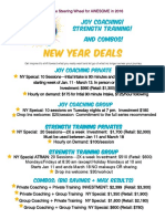 New Year's Offerings and Packages at Angela's Gym