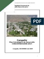 Plan de Desarrollo Cangallo 2008-2017