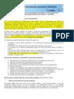 Evaluación de Pruebas Prácticas o de Ejecución