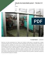 Manifesto Contra a Redução Da Maioridade Penal – Versão 2