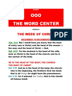 THE WEEK OF CHRIST 12/19-12/25