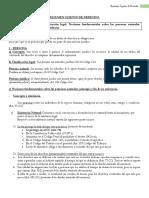 Sujetos de Derecho Resumen