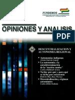 Bolivia Descentralización y Autonomía Regional (Hanns Seidel)