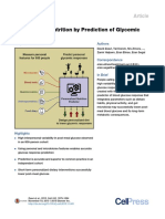 Personalized Nutrition by Prediction of Glycemic Response