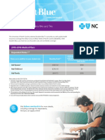 UNC Chapel Hill RA/TA Student Blue Rate Sheet 2015-2016