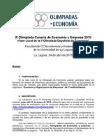 IIIOlimpiada Canaria Información