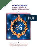 El Proyecto Matsya (Lista de Códigos y Referencias Bibliográ