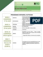 Programa Integral Autocad