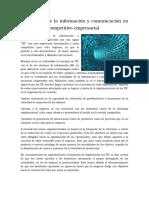Tecnologías de La Información y Comunicación en El Desarrollo Competitivo Empresarial by Ferdinando Stagnaro