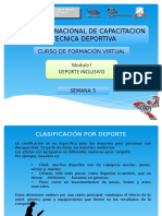 Introduccion Al Deporte Inclusivo, Semana 05