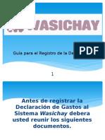 02 Guia WASICHAY - Declaracion de Gastos