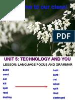 English 10 Unit 5 Language Focus