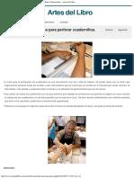 Fabricación de Una Cuna Para Perforar Cuadernillos Alberto Chiaramonte – Artes