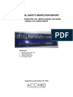 Big Boss Corporation Ltd. Electrical Safety Inspection Report