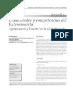 Capacidades y Competencias del Extensionista Agropecuario y Forestal en la Globalización.